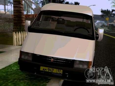 Gazelle 32213 1994 für GTA San Andreas Rückansicht