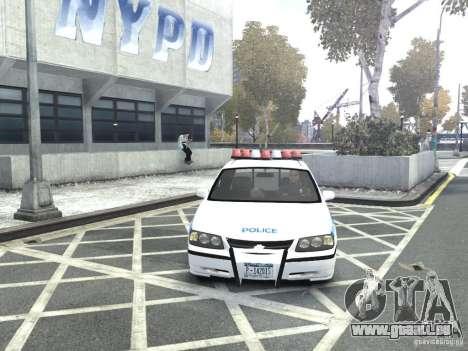 Chevrolet Impala NYCPD POLICE 2003 pour GTA 4 est une vue de l'intérieur