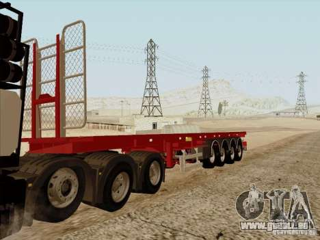 MAN TGX 8 x 4 trailer für GTA San Andreas zurück linke Ansicht
