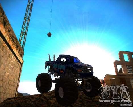 Monster Truck Blue Thunder pour GTA San Andreas vue arrière