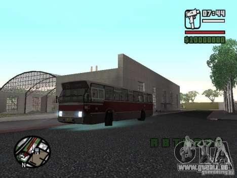 DAF CSA 1 City Bus pour GTA San Andreas sur la vue arrière gauche
