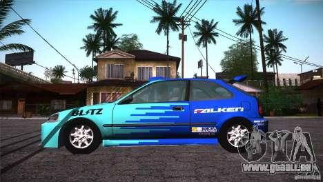 Honda Civic Tuneable für GTA San Andreas Motor
