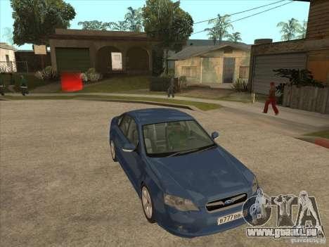 Subaru Legacy 3.0 R pour GTA San Andreas vue arrière