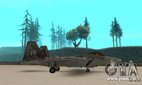 F-22 Starscream für GTA San Andreas linke Ansicht