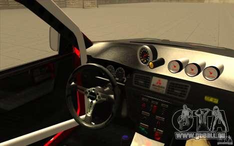 Mitsubishi Lancer Evo IX DiRT2 pour GTA San Andreas vue de côté