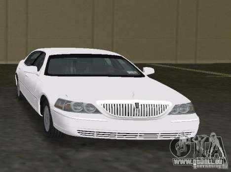 Lincoln Town Car pour GTA Vice City sur la vue arrière gauche