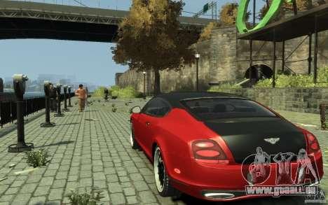 Bentley Continental GT SS pour GTA 4 Vue arrière de la gauche