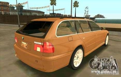 BMW 525 Touring V2 pour GTA San Andreas sur la vue arrière gauche