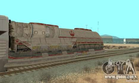 Un bon train, Star Wars pour GTA San Andreas sur la vue arrière gauche
