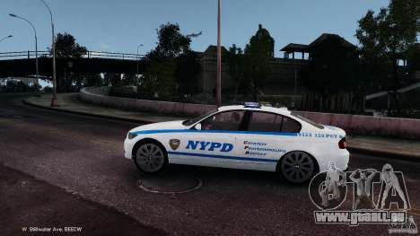 NYPD BMW 350i für GTA 4 linke Ansicht