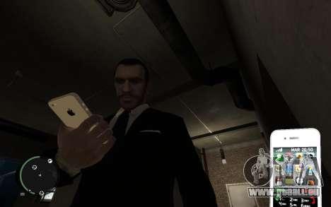 Iphone 4G pour GTA 4 quatrième écran