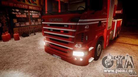 Scania Fire Ladder v1.1 Emerglights red [ELS] pour GTA 4 vue de dessus
