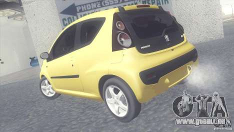 Peugeot 107 2011 pour GTA San Andreas laissé vue