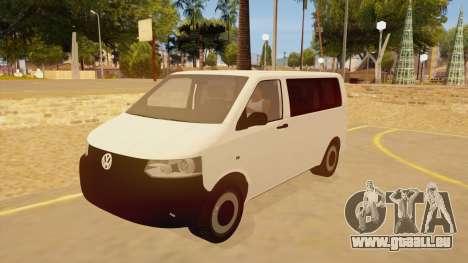 Volkswagen Transporter T5 Facelift 2011 pour GTA San Andreas
