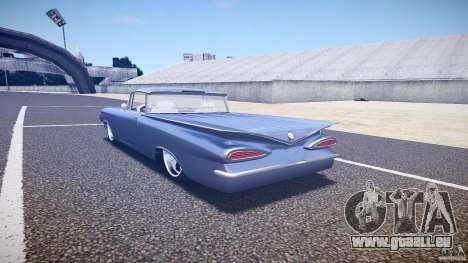 Chevrolet El Camino Custom 1959 pour GTA 4 Vue arrière de la gauche