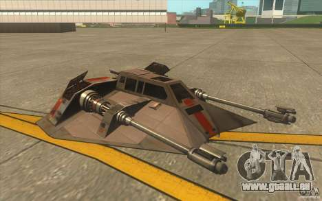T-47 Snowspeeder pour GTA San Andreas vue de dessus