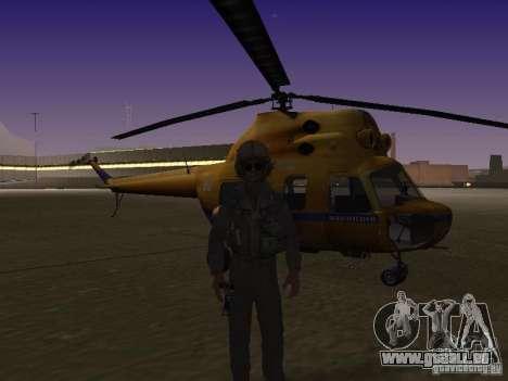 Police mi-2 pour GTA San Andreas sur la vue arrière gauche