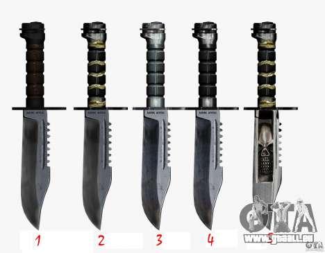 Le couteau de la stalker no 4 pour GTA San Andreas troisième écran