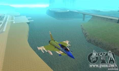 Eurofighter 2010 pour GTA San Andreas vue intérieure