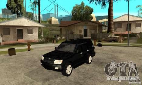 Toyota Land Cruiser 100vx v2.1 pour GTA San Andreas laissé vue