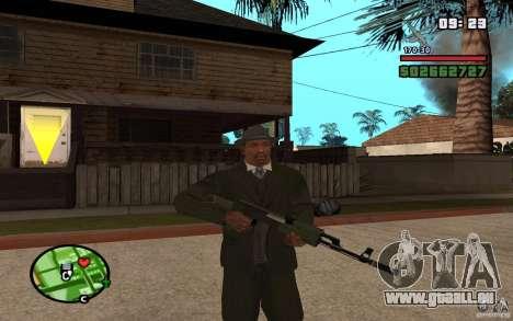 AK-47 avec un silencieux de GTA 5 (Final) pour GTA San Andreas deuxième écran