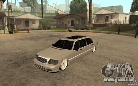 Mercedes-Benz S600 V12 W140 1998 VIP pour GTA San Andreas