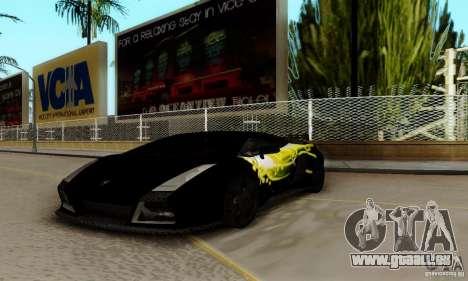 Lamborghini Gallardo pour GTA San Andreas vue de côté