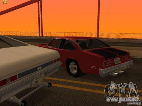Chevrolet Nova Chucky pour GTA San Andreas vue de dessus