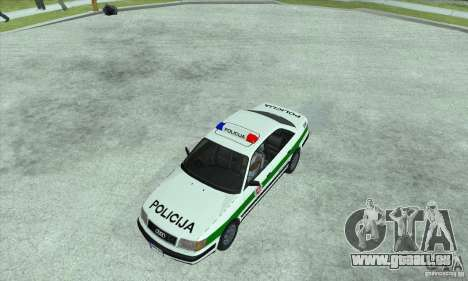 Audi 100 C4 (Cop) pour GTA San Andreas sur la vue arrière gauche