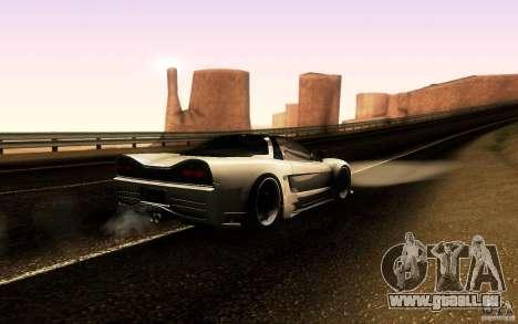 Honda NSX VielSide Cincity Edition pour GTA San Andreas vue arrière