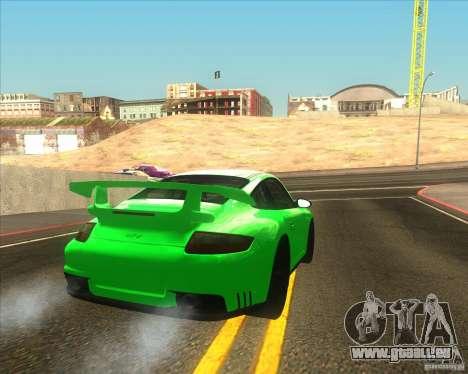 Porsche 911 GT2 (997) black edition für GTA San Andreas zurück linke Ansicht