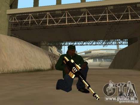 Pak Golden Waffen für GTA San Andreas zweiten Screenshot
