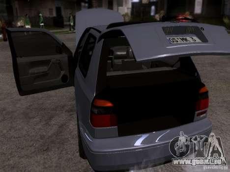 Volkswagen Golf 3 VR6 für GTA San Andreas Innenansicht