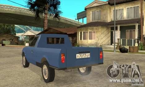 AZLK 2335 für GTA San Andreas zurück linke Ansicht