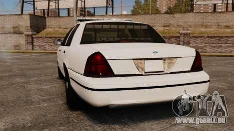 Ford Crown Victoria Unmarked ELS für GTA 4 hinten links Ansicht