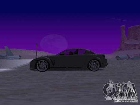 Mazda RX-8 Veilside für GTA San Andreas linke Ansicht