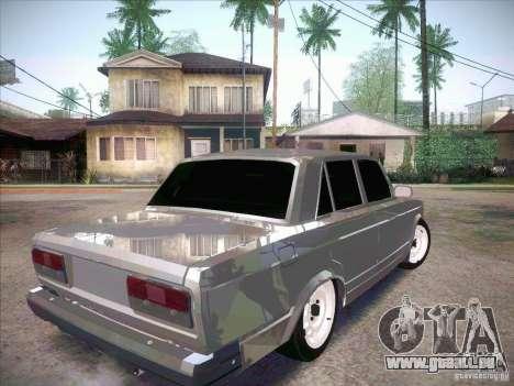 VAZ 2107 criminel pour GTA San Andreas sur la vue arrière gauche