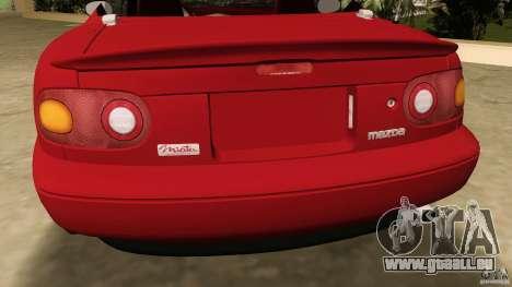 Mazda MX-5 pour GTA Vice City vue arrière