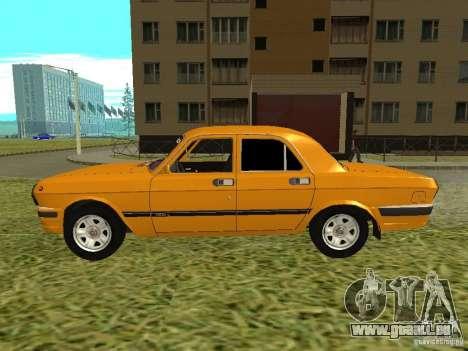 Volga GAZ 24-10 pour GTA San Andreas sur la vue arrière gauche
