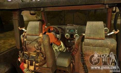Jeep Wrangler pour GTA San Andreas vue de côté