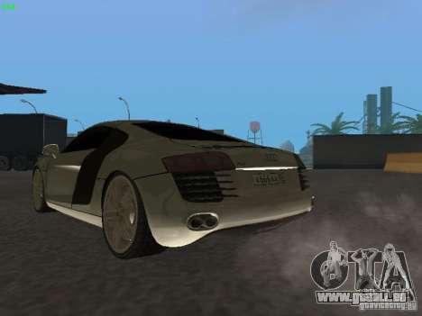 Audi R8 pour GTA San Andreas vue intérieure