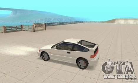 HONDA CRX II 1989-92 pour GTA San Andreas sur la vue arrière gauche