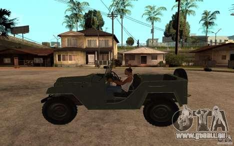 GAZ 67 b pour GTA San Andreas laissé vue