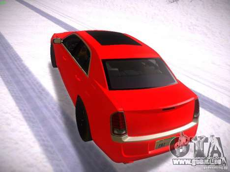 Chrysler 300C SRT8 2011 pour GTA San Andreas sur la vue arrière gauche