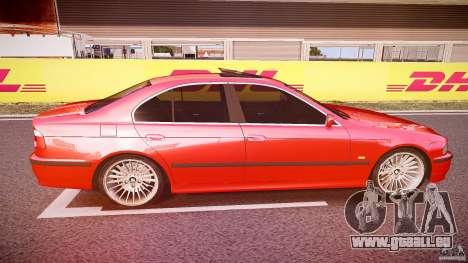 BMW 530I E39 stock chrome wheels pour GTA 4 est une vue de l'intérieur