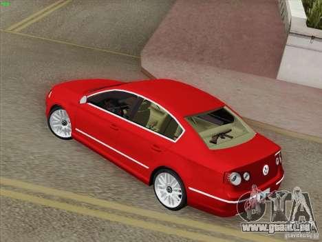 Volkswagen Magotan 2011 pour GTA San Andreas sur la vue arrière gauche