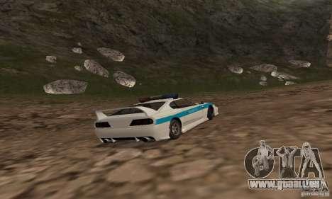 Jester Russian Police pour GTA San Andreas vue arrière