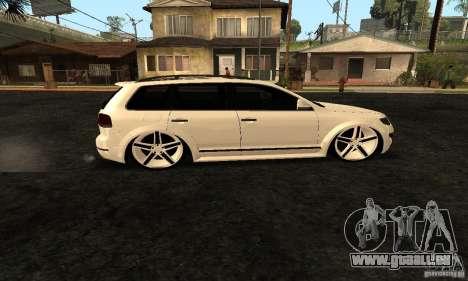 Volkswagen Touareg Dag Style pour GTA San Andreas laissé vue