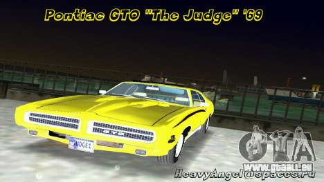 Pontiac GTO The Judge 1969 für GTA Vice City