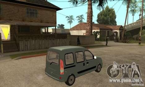 Renault Kangoo 2005 pour GTA San Andreas vue de droite